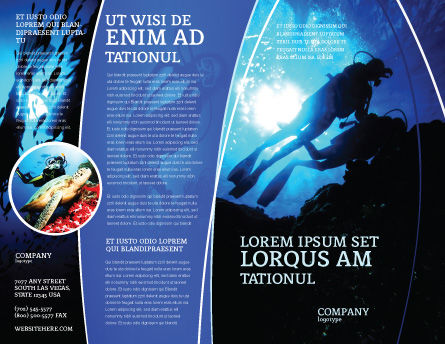 Diving Brochure Template, Outer Page, 03439, Sports — PoweredTemplate.com