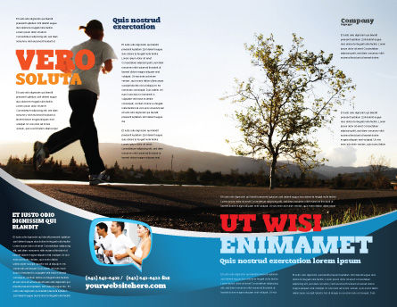 Morning Jogging Brochure Template, Outer Page, 03440, Sports — PoweredTemplate.com