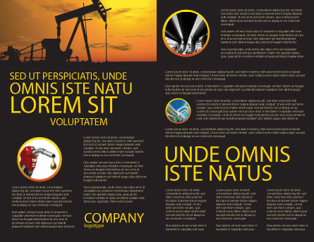 Oil Producer Brochure Template, Inner Page, 03444, Utilities/Industrial — PoweredTemplate.com