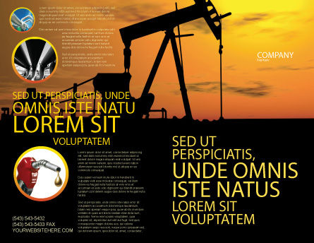 Oil Producer Brochure Template, Outer Page, 03444, Utilities/Industrial — PoweredTemplate.com