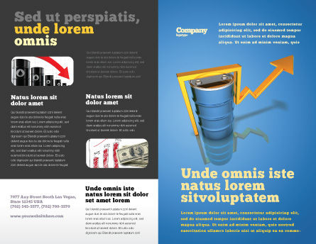 Petroleum Prices Brochure Template Outer Page