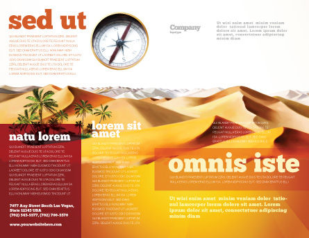 Oasis Brochure Template, Outer Page, 03452, Nature & Environment — PoweredTemplate.com