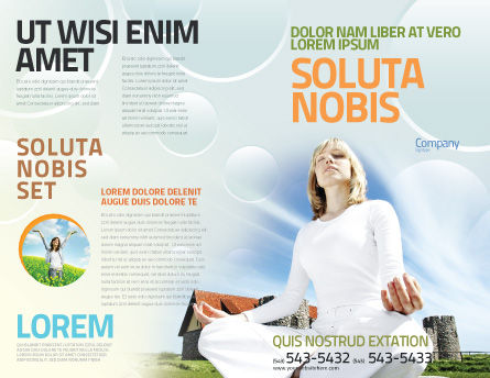 Countryside For Meditation Brochure Template, Outer Page, 03454, Religious/Spiritual — PoweredTemplate.com