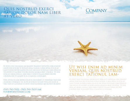Starfish Brochure Template, Outer Page, 03456, Nature & Environment — PoweredTemplate.com