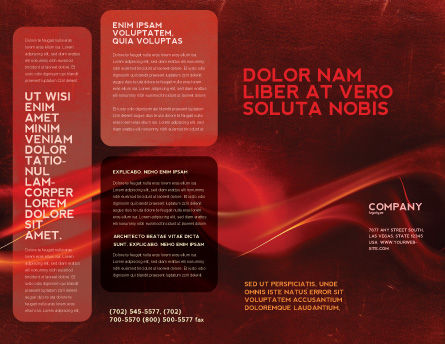 Red Texture Brochure Template Outer Page
