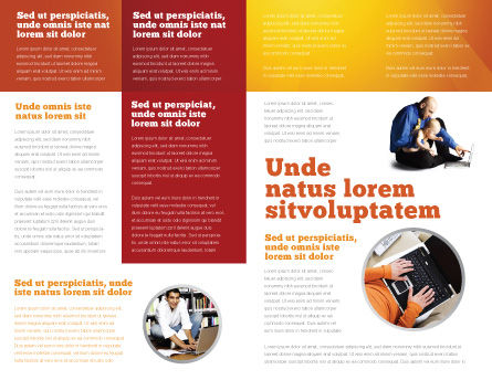 Computer Literacy Brochure Template, Inner Page, 03473, Education & Training — PoweredTemplate.com