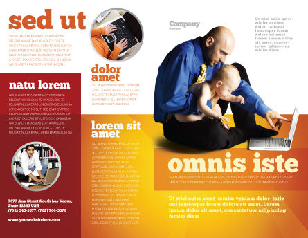 Computer Literacy Brochure Template, Outer Page, 03473, Education & Training — PoweredTemplate.com