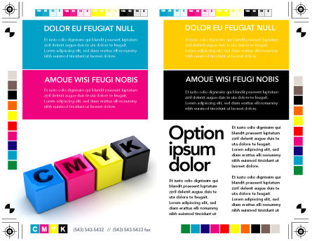 CMYK Brochure Template, Inner Page, 03474, Careers/Industry — PoweredTemplate.com