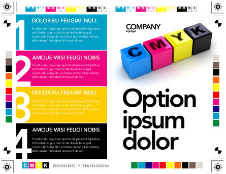 CMYK Brochure Template, Outer Page, 03474, Careers/Industry — PoweredTemplate.com