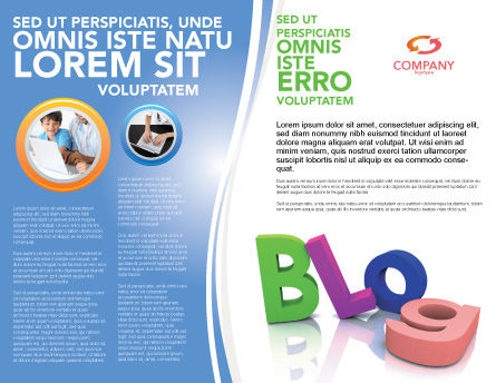 Blog Brochure Template Outer Page