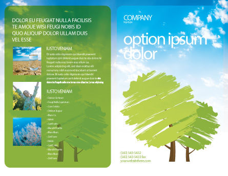 Greenery Brochure Template, Outer Page, 03479, Nature & Environment — PoweredTemplate.com