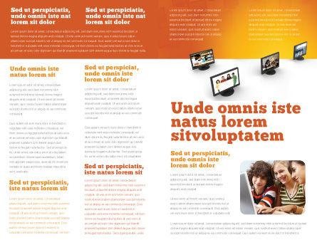 Education Programs Brochure Template, Inner Page, 03489, Education & Training — PoweredTemplate.com