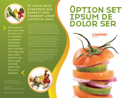 Fresh Vegetables Brochure Template Outer Page