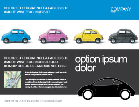 Minicars Brochure Template, Outer Page, 03491, Cars/Transportation — PoweredTemplate.com
