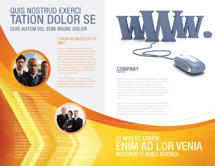 Web Brochure Template Outer Page