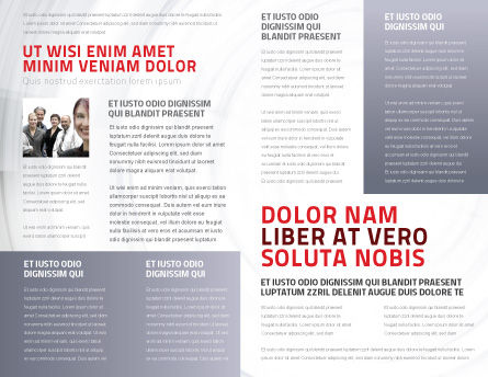 Crowd of People Brochure Template, Inner Page, 03496, Business Concepts — PoweredTemplate.com
