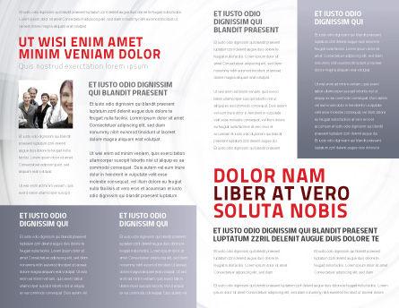 Crowd of People Brochure Template Inner Page