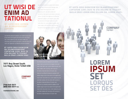 Crowd of People Brochure Template, Outer Page, 03496, Business Concepts — PoweredTemplate.com