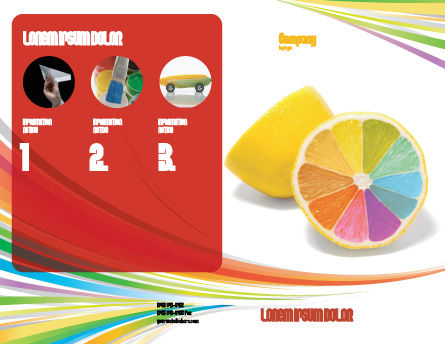 Color Diversity Brochure Template Outer Page