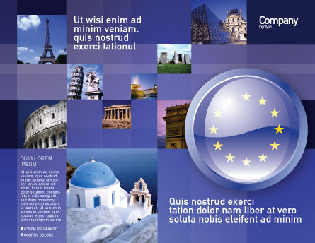 European Union Sign Brochure Template Outer Page