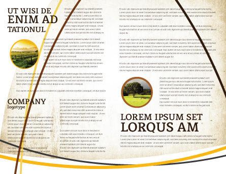 Summer Flower Brochure Template, Inner Page, 03501, Nature & Environment — PoweredTemplate.com