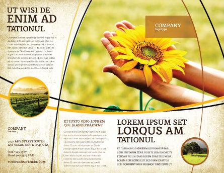 Summer Flower Brochure Template, Outer Page, 03501, Nature & Environment — PoweredTemplate.com