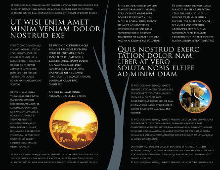 Savanna Brochure Template, Inner Page, 03506, Nature & Environment — PoweredTemplate.com