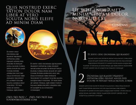 Savanna Brochure Template, Outer Page, 03506, Nature & Environment — PoweredTemplate.com