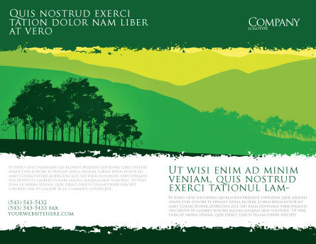 Mountain Landscape Brochure Template, Outer Page, 03509, Nature & Environment — PoweredTemplate.com