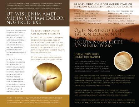 Memento Mori Brochure Template, Inner Page, 03510, Religious/Spiritual — PoweredTemplate.com