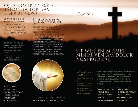 Memento Mori Brochure Template, Outer Page, 03510, Religious/Spiritual — PoweredTemplate.com