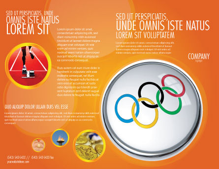 Olympic Symbol Brochure Template, Outer Page, 03512, Sports — PoweredTemplate.com
