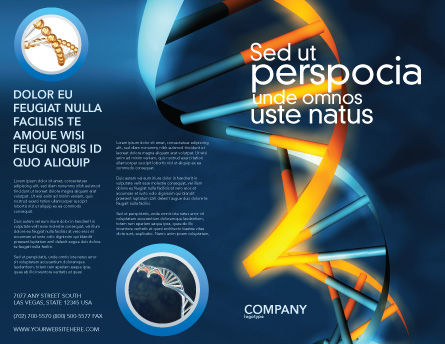 Genes In DNA Brochure Template, Outer Page, 03516, Medical — PoweredTemplate.com