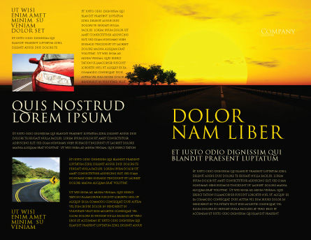 Sunset Highway Brochure Template, Outer Page, 03518, Construction — PoweredTemplate.com