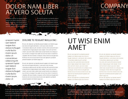Typefaces Brochure Template Inner Page