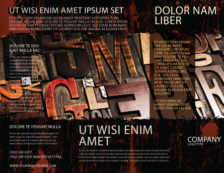 Typefaces Brochure Template Outer Page