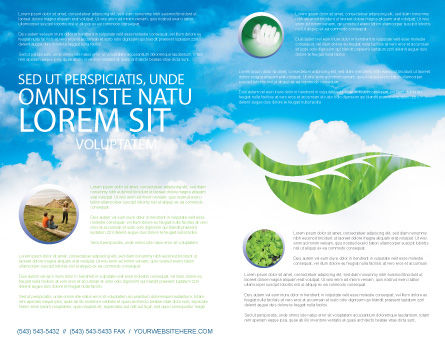 Mother Earth Brochure Template Inner Page