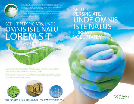 Mother Earth Brochure Template Outer Page