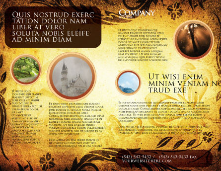 Fairy Tale Brochure Template Outer Page