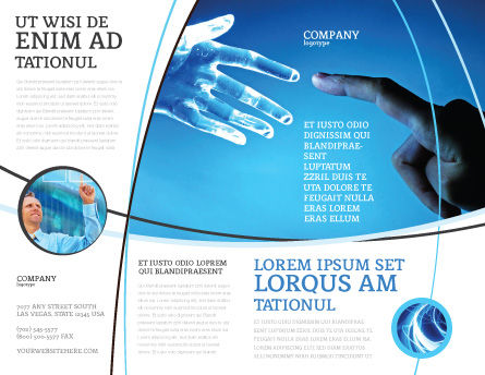 People And Technology Brochure Template Outer Page