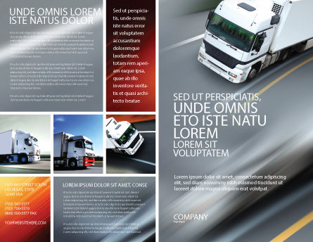Freight Service Brochure Template, Outer Page, 03527, Cars/Transportation — PoweredTemplate.com