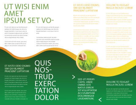 Growing Brochure Template, Inner Page, 03531, Nature & Environment — PoweredTemplate.com
