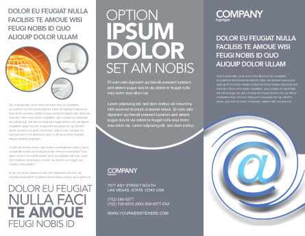 Modern Communication Via Email Brochure Template Outer Page