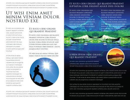 Mountain Lake Brochure Template, Inner Page, 03534, Nature & Environment — PoweredTemplate.com