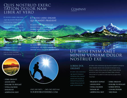 Mountain Lake Brochure Template, Outer Page, 03534, Nature & Environment — PoweredTemplate.com