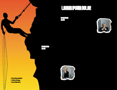 Silhouette Of Rock Climber Brochure Template, Inner Page, 03535, Consulting — PoweredTemplate.com