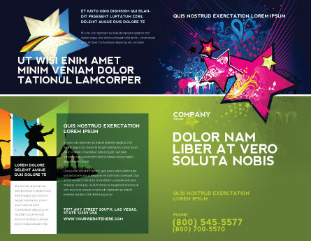 Graphic Design Brochure Template, Outer Page, 03537, Holiday/Special Occasion — PoweredTemplate.com