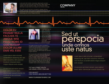 Electrocardiography Brochure Template, Outer Page, 03538, Medical — PoweredTemplate.com