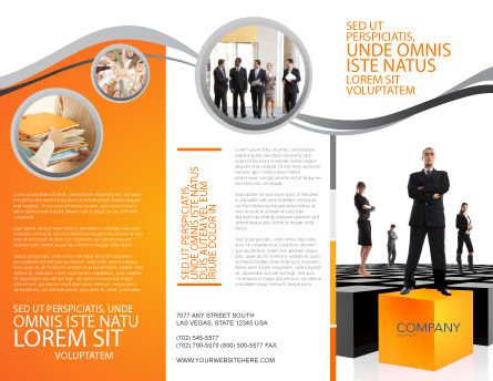 Leadership Training Progress Brochure Template Design And Layout