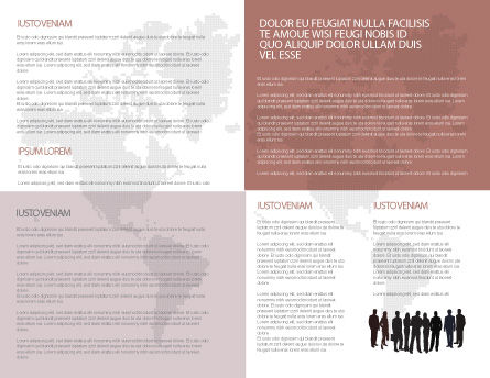 World Diversity Brochure Template, Inner Page, 03543, Global — PoweredTemplate.com